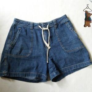 St. John's Bay  blue jean denim shorts